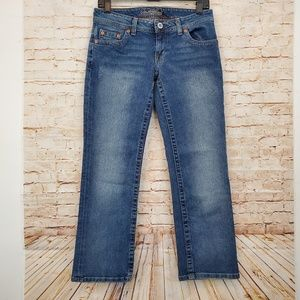 American Eagle Low Cropped Jeans Size 6 Reg